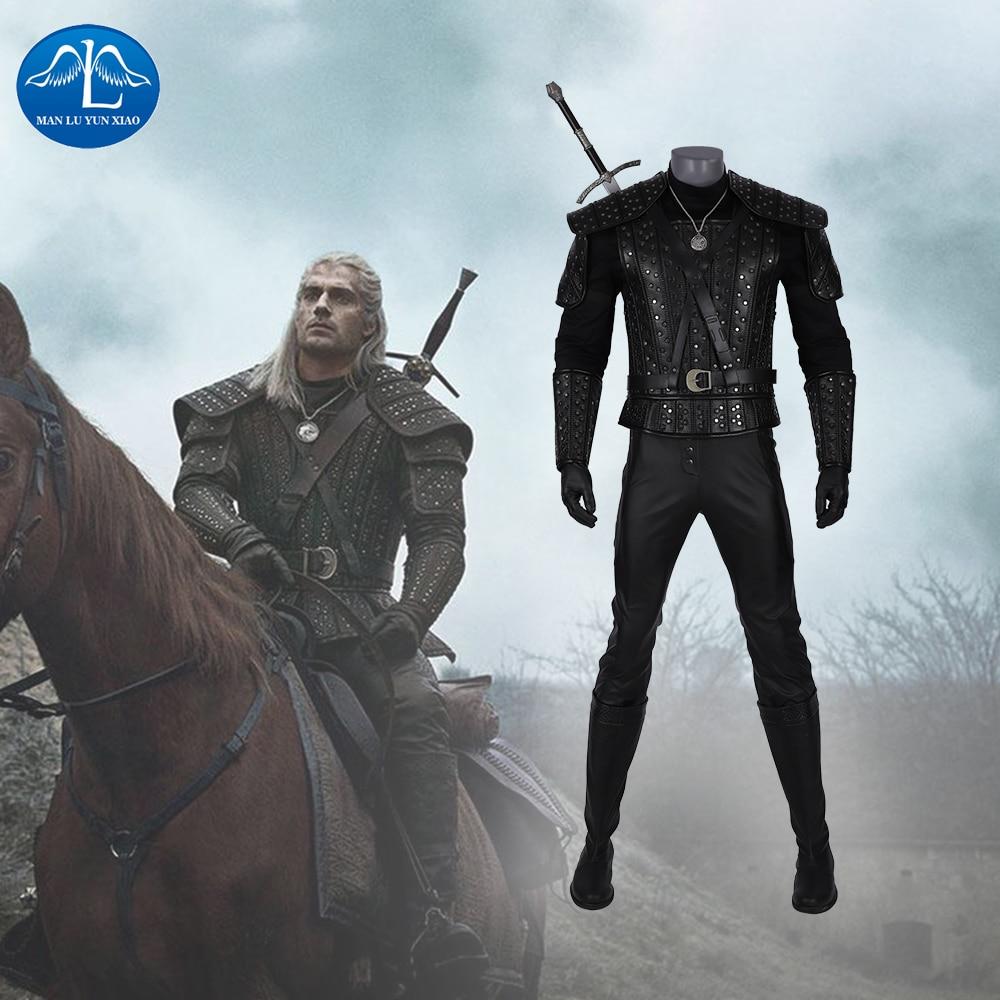 Manluyunxiao The Witcher 3 accessoires Cosplay Geralt de Rivia Costume noël Halloween Costumes pour hommes adultes vestes