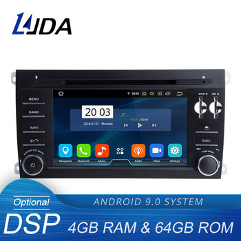 LJDA Android 9.0 Car DVD Player For Porsche Cayenne 2003-2010 Multimedia GPS Navigation Stereo 2 Din Car Radio DSP 4G+64G IPS