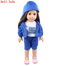 American Doll Baby Girl 43cm Soft Realistic Silic Toddler Dolls With Clothes 17inch For Girls Best Christmas&Birthday Gift