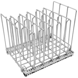 Sous Vide Container Rack - Chrome Stainless Steel Dividers (5) Water Bath Food Cooking Accessories Separates Plastic Bags For Pe