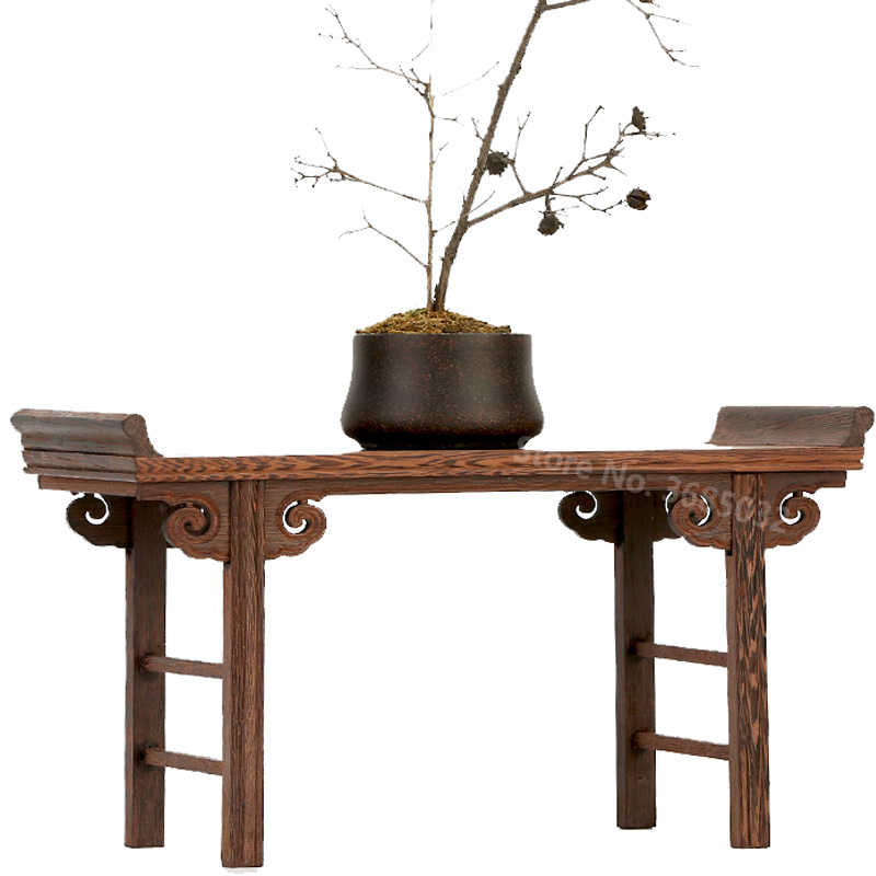 Cheap Chinese Low Tea Table Redwood Small Wooden Carving Decoration Base Vase Buddha Kistler Display Rack For Tea Coffee