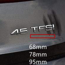 Long Bar Badge Emblem Car Styling Trunk 4 Wheel Drive Logo Sticker for Audi A4 A6 Q3 Q5 Q7 Chrome Glossy Black Silver Red skull sward shape chrome car body sticker silver black red
