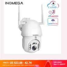 Inqmega 1080 ipカメラのwifiワイヤレス自動追尾ptzスピードドームカメラ屋外cctvセキュリティ監視防水カメラ
