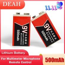 Литиевая аккумуляторная батарея 9 в 500 мАч usb lipo для мультиметра, микрофон, дистанционный массажер с управлением, ktv, используйте батарею usb 9 в