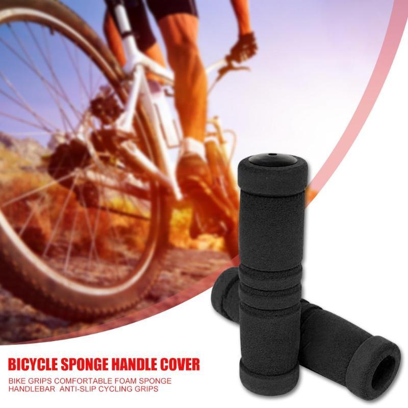Leather Soft Rubber Bicycle Handle Grip for Cycling Mountain Bike Road Bike MTB BMX Foldable Bicycle VOANZO Bike Handlebar Grips Black