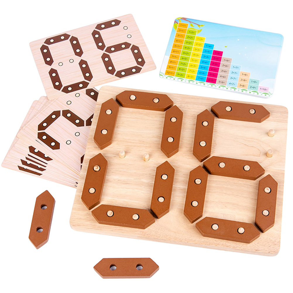 New Montessori Children's Fun Number Addition And Subtraction Learning Board Baby Early Education Toys Wooden Block Toy