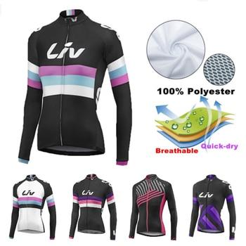 Camiseta de Ciclismo 2020 LIV Pro team verano manga larga Hombre MTB Ropa de bicicleta Ropa Ciclismo Maillot secado rápido camiseta de bicicleta