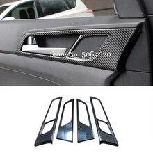 עבור יונדאי טוסון 2015 2016 2017 2018 2019 2020 ABS סיבי פחמן רכב פנימי דלת קערת מגן מסגרת כיסוי Trim רכב סטיילינג