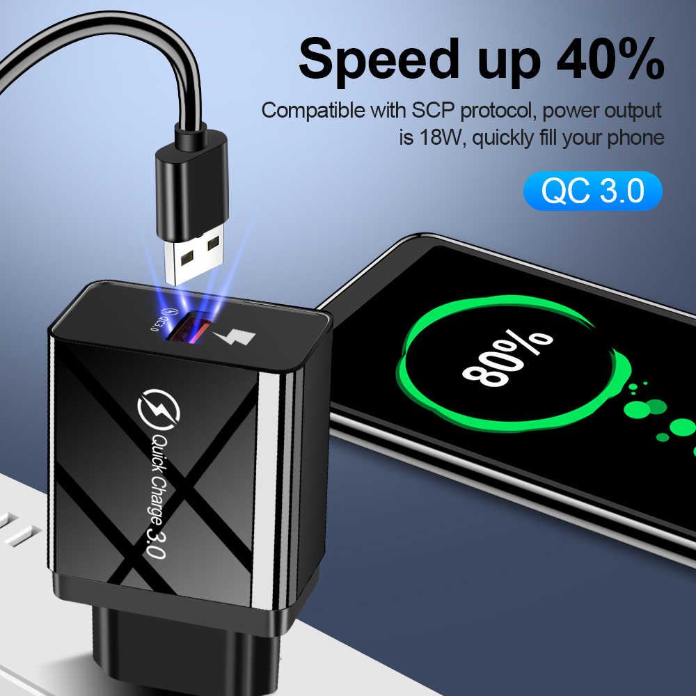 5V 3.5A Quick Charge 3.0 USB Charger 2.0 สำหรับ iPhone Xiaomi Samsung QC3.0 QC2.0 Fast ชาร์จโทรศัพท์มือถือสำหรับ Huawei
