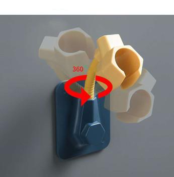1pc przenośny uniwersalny regulowany łazienka uchwyt prysznicowy ścienny prysznic do montażu uchwyt prysznicowy uchwyt prysznicowy akcesoria łazienkowe hak tanie i dobre opinie CN (pochodzenie) Żel Z aluminium Polerowane HUASAZHIJIA1