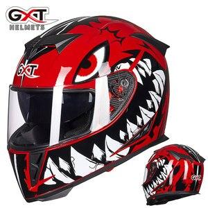 Image 5 - את האחרון GXT 358 אופנוע קסדה מלא פנים קסדת גברים של מירוץ capacete casco מוטוקרוס cascos