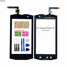 Mobile Touch Screen For Crosscall TREKKER M1 Touch Screen Front Glass Sensor Digitizer Panel Tools 3M Glue Wipes