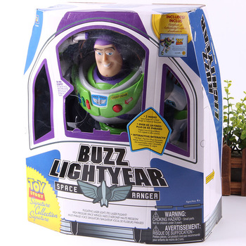 Toy Story Figure Buzz Lightyear Space Ranger Buzz Lightyear Action Figure with LED Light Collectible Model Doll for Kids