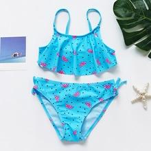 Girl Swimsuit Bikini-Sets Watermelontwo-Pieces Children's Print