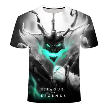 2020 New Dark style 3D League of legends T shirt Yasuo Jarvan IV Twisted Fate E-sports team clothing men's women's LOL t-shirt