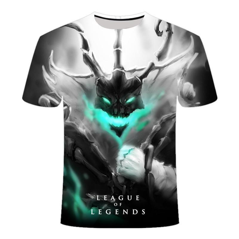 2020 Новый темно стиль 3D League of legends футболка Yasuo, Jarvan Характеристическая вязкость полимера с надписью