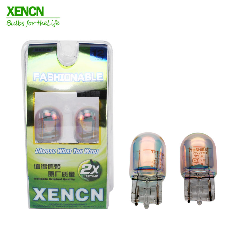 XENCN W21W <font><b>T20</b></font> 12V <font><b>21W</b></font> Car Signal Lights 1881 Auto Wedge Bulbs Brake Light Packing Rear Front indicator fog light image