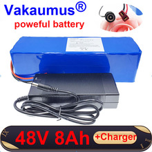 цена на 48V Lithium Battery Pack 8Ah 18650 battery built-in 15A BMS For 350w 500w poweful electric bicycle ebike MOTOR+charger Vakaumus