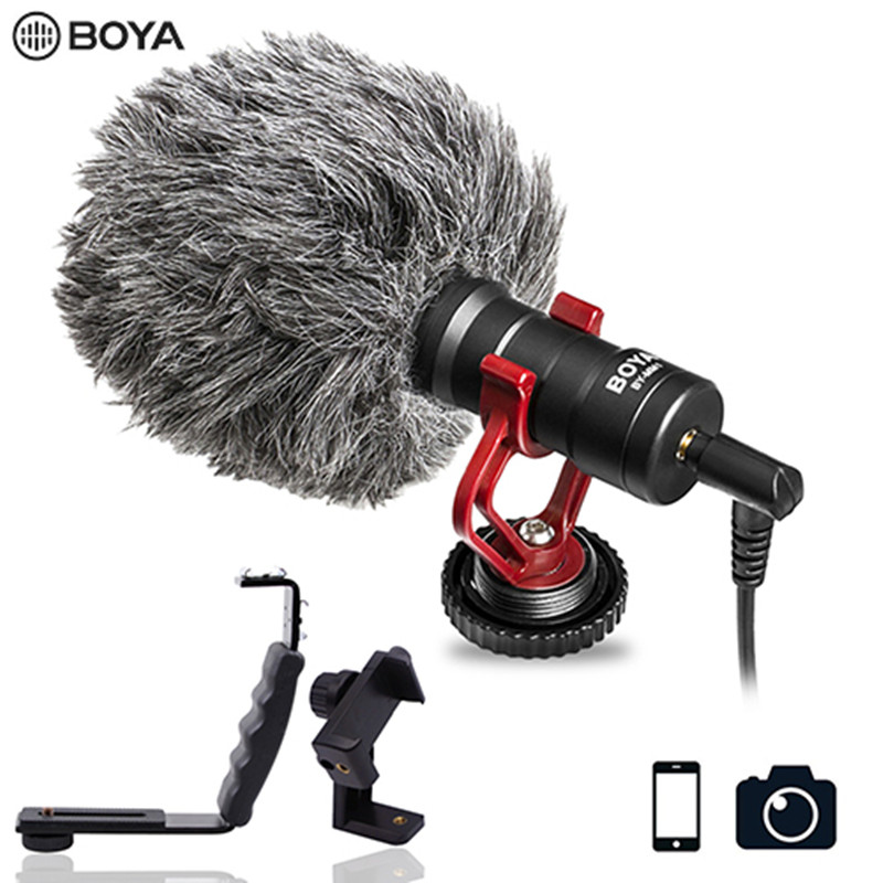 BOYA BY-MM1 Compact On-Camera Video Microphone Youtube Vlogging Recording Mic for iPhone Nikon Canon DSLR Smooth Q Feiyu Gimbal image