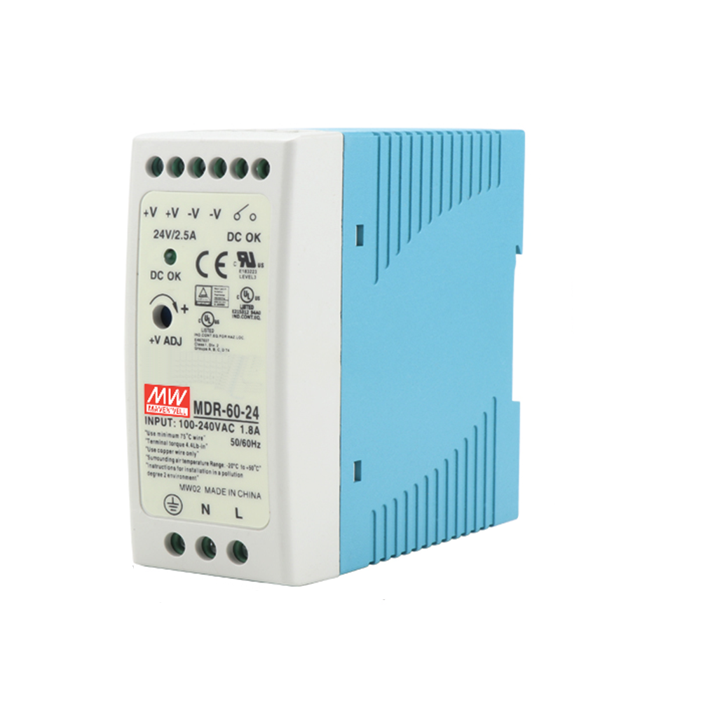 MDR-60 12V 5V 15V 24V 36V 48V 60W Din Rail power supply ac-dc driver voltage regulator power suply 110V 220V-0