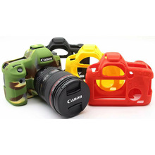 TENENELE Camera Bags For Canon EOS 6D Soft Silicone Case Colorful Rubber Cover Bag For Canon eos 6 D Protect Body Accessories