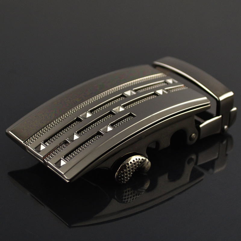 Fashion Men's Business Alloy Automatic Buckle Unique Men Plaque Belt Buckles For 3.5cm Ratchet Men Apparel AccessoriesLY125-0381