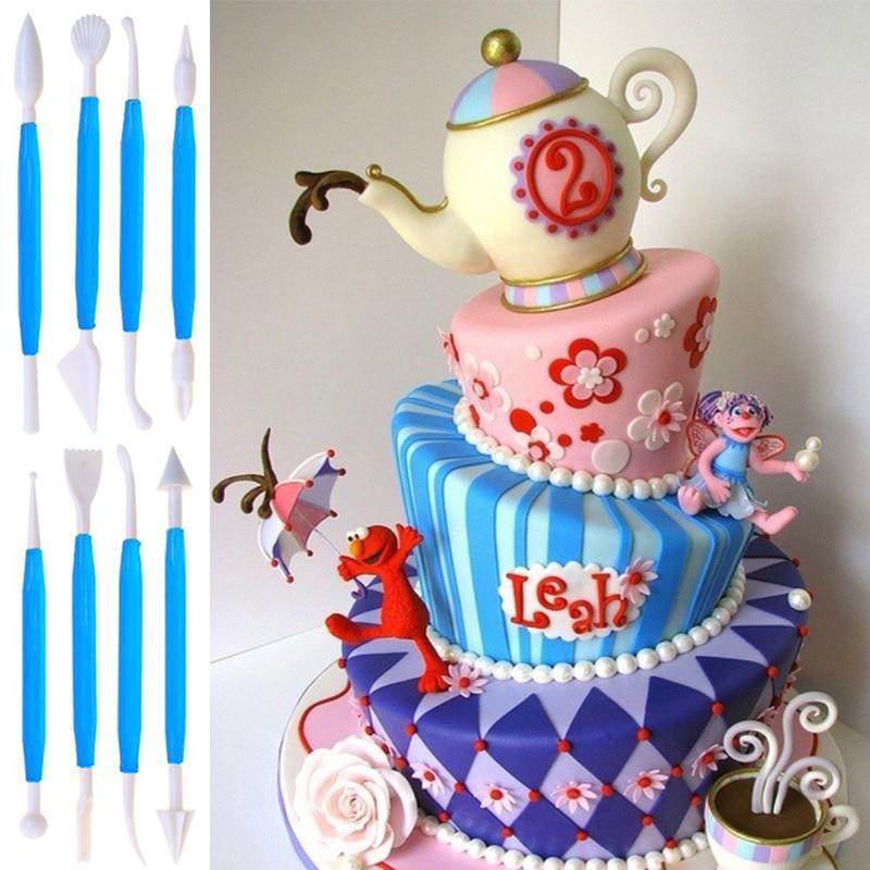 8 шт./лот «сделай сам», украшение для торта, помадки и мастики, моделирование, резак для вырезания кондитерских изделий, 16 шаблонов, инструмен...
