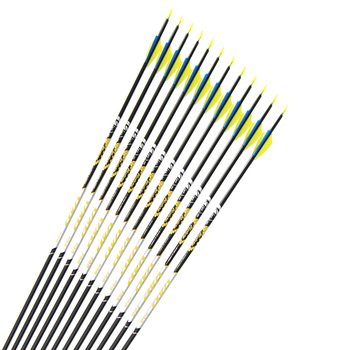 """12pcs Archery Carbon arrows Spine350 400 500 600 700 ID4.2mm 1.75""""plastic vane Stainless Steel target point for Recurve bow"""
