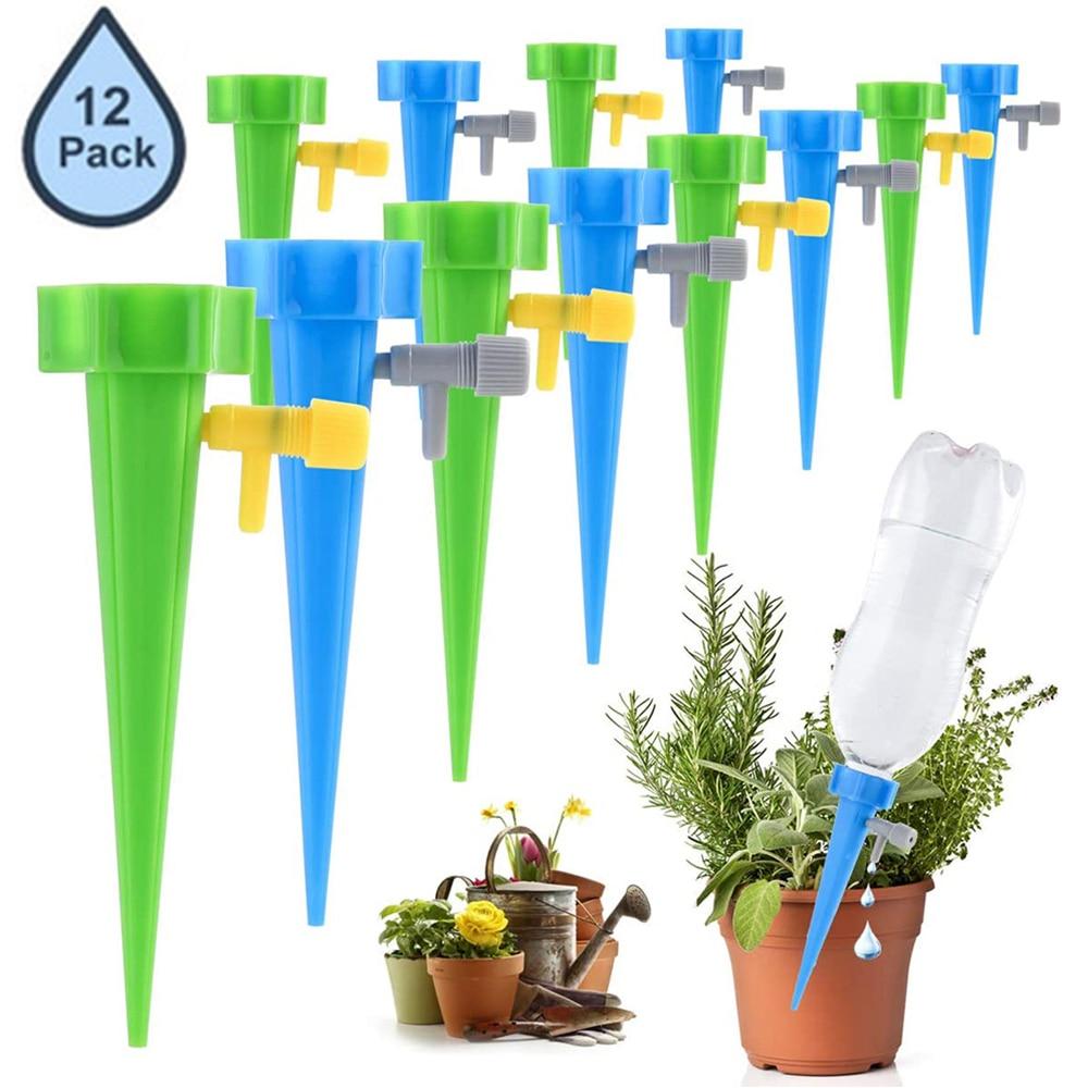 6% 2F12шт автоматический капельный полив система дом колос сад растения цветок комнатный капельный полив устройство гаджеты инструменты