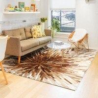 American style luxury cowhide skin fur patchwork rug  natural cow skin fur  carpet  for living room  decoration villa carpet|Carpet| |  -