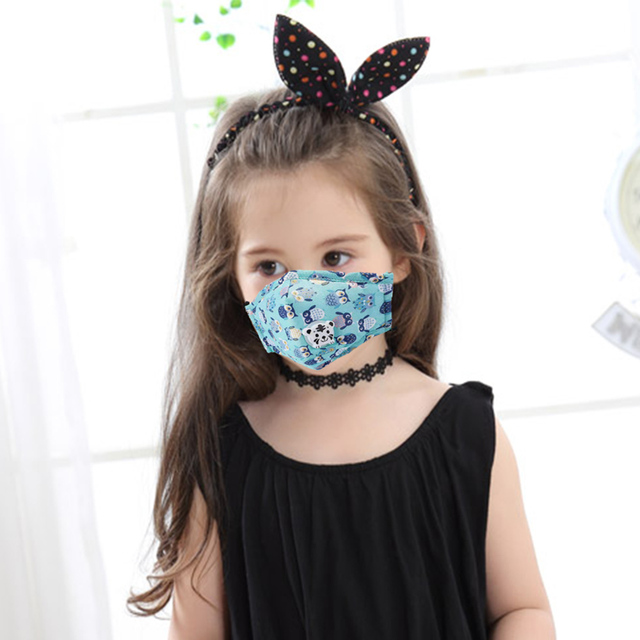 PM2.5 Washable Mouth Mask With Valve Adult Kids Children Anti Haze Dust Mask Nose Filter Face MuffleRespirator 1