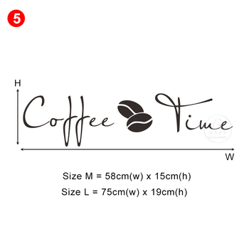 28 styles Coffee Wall Stickers Vinyl Wall Decals Kitchen Stickers English Quote Home Decorative Stickers PVC Dining Room Shop 14