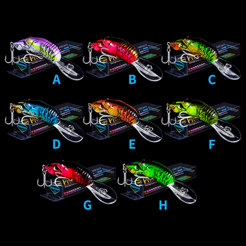 1PC High Quality Crankbait 9cm/10g Hard Fishing Lure Artificial Baits 3D Eyes lifelike Wobblers fishing Tackles With 6# BKB Hook image