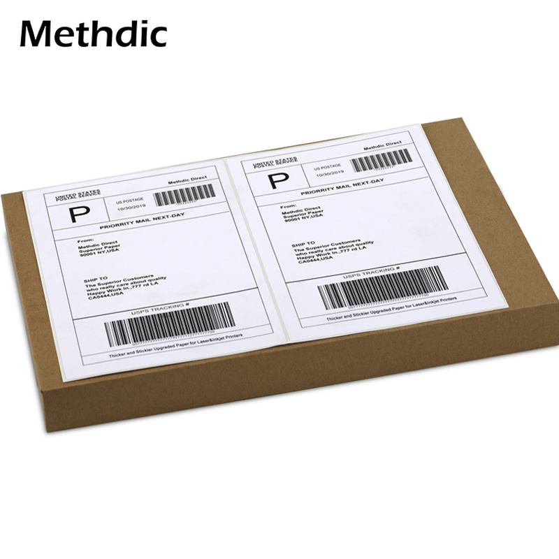 "Methdic 8.5""x 5.5 ""150 Sheet Address Labels On Laser Printer Paper"