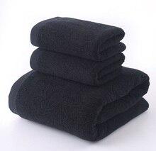 LYN&GY cotton Black bath towel set 1pc brand 2pcs face towels Bathroom Set jogo de toalhas banho Christmas decor