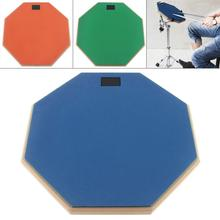 Dumb Drums 8/12 Inch Rubber Wooden Dumb Drum Practice Training Drum Pad for Jazz Drums Exercise with 3 Colors Optional  Hot 10 inch dumb drum practice jazz drums exercise training abs drum pad with drum sticks and