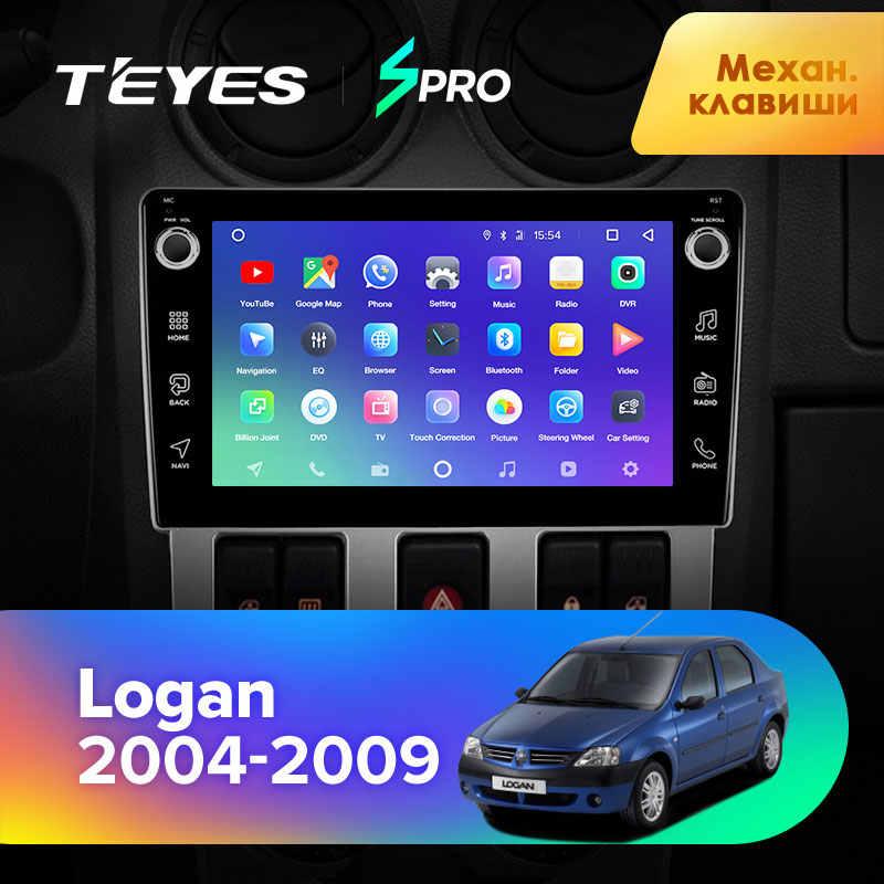TEYES SPRO Renault Logan için 1 2004 2005 2006 2007 2008 2009 araba radyo multimedya Video oynatıcı navigasyon GPS Android 8.1