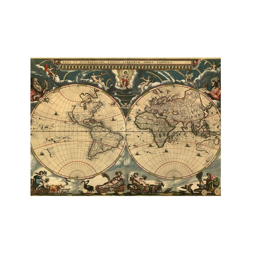 a2 tamanho retro mapa do mundo belas 01