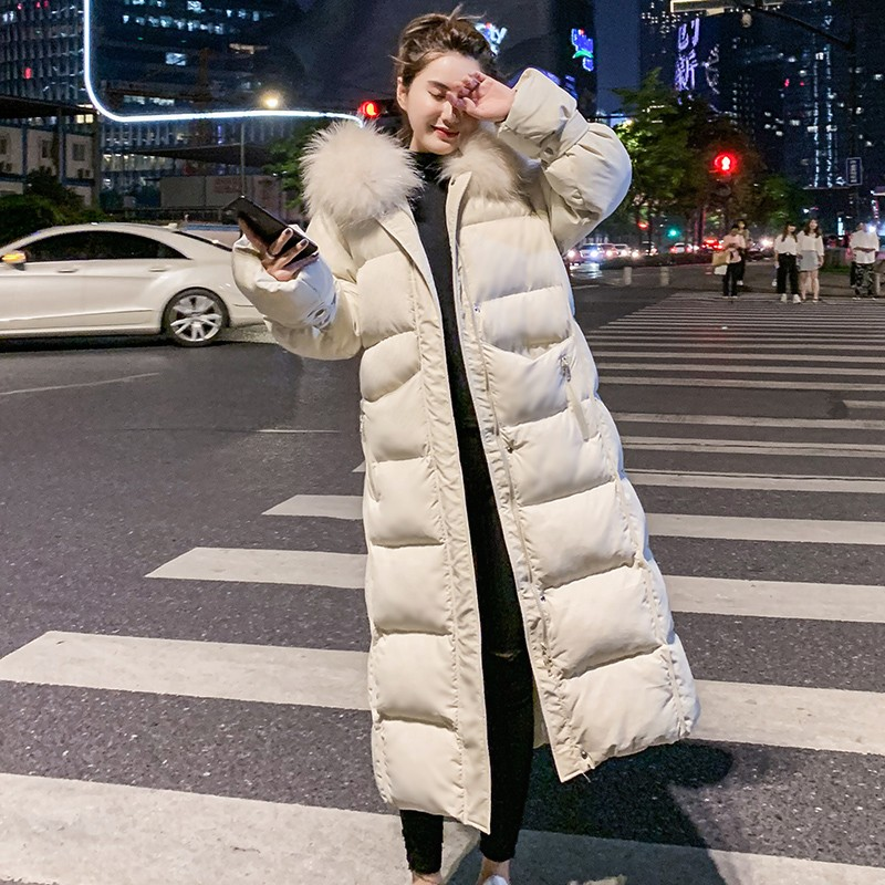 2019 Fashion Long Down Jacket Women Winter Ultra Light Down Jacket Women With Hooded Down Coat Female Slim Coats