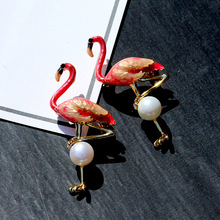 Fashion Jewelry cc brooch gifts for women Pearl flamingo brooch pin dress Accessories enamel pins Brooches for women hijab pins brooches for women hijab pins fashion jewelry cc brooch gifts for women high end wedding brooch dress accessories enamel pins
