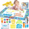 Magic Colorful Water Canvas Graffiti Blanket Magic Water Writing Graffiti Painting Canvas Cartoon Child Education Drawing Carpet