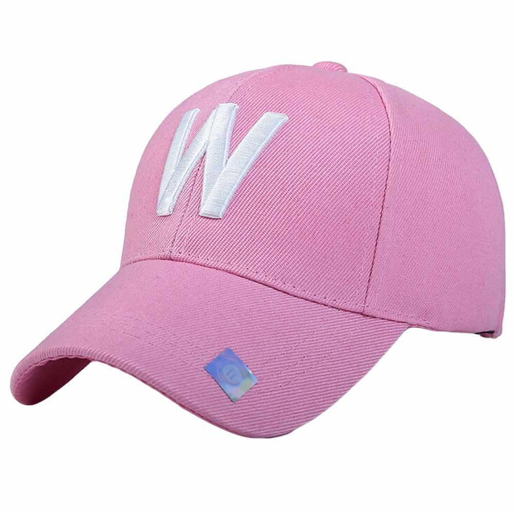 Moda kobiety mężczyźni W list czapka z daszkiem czapka przeciwsłoneczna czapka z siateczką regulowana czapka z daszkiem list cekiny hip-hop czapka z daszkiem odcień