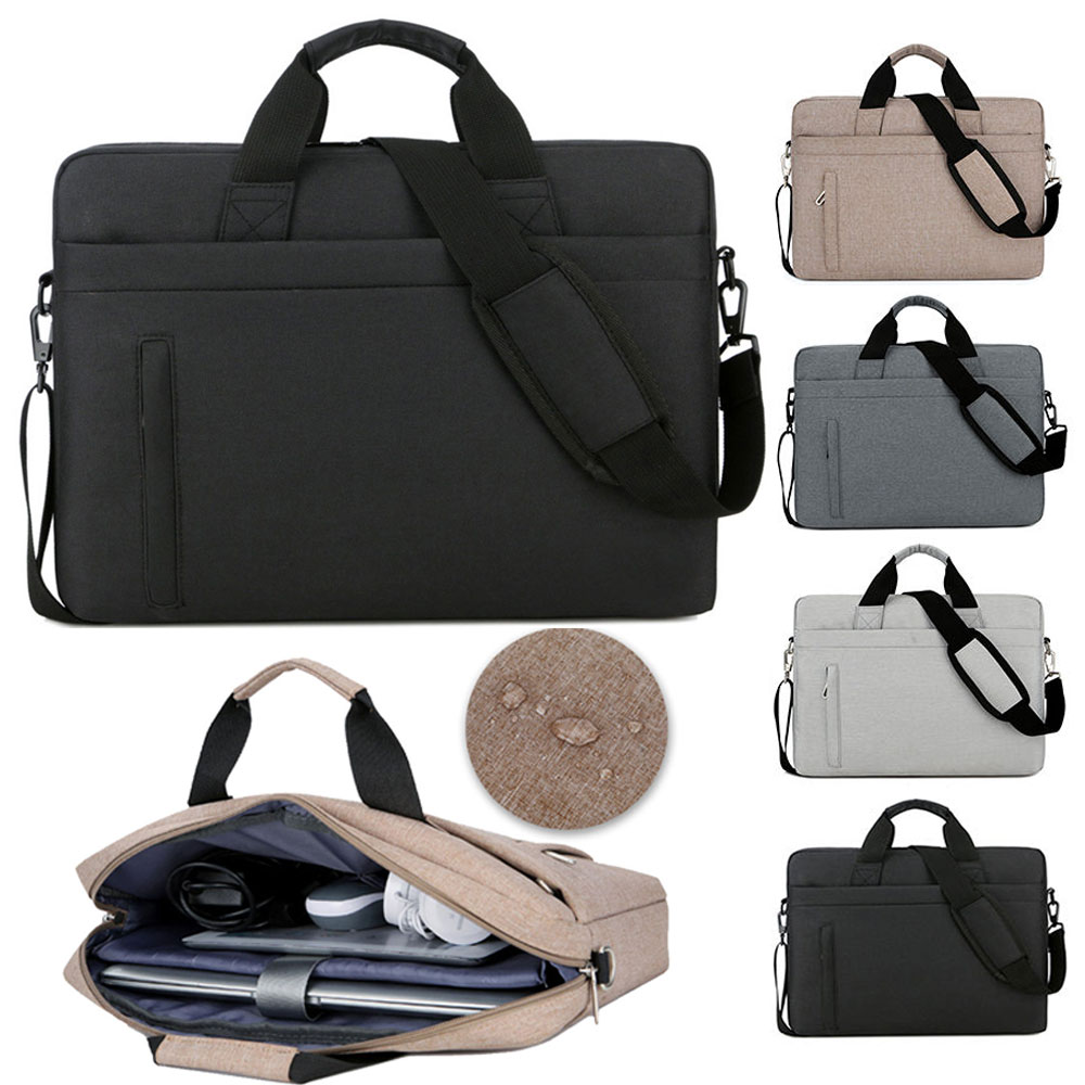 Handbag for 13 13.3 14 15 15.6 17 <font><b>17.3</b></font> Inch Large Capacity Notebook Messenger <font><b>Bag</b></font> for Macbook Dell Lenveo Acer ASUS <font><b>Laptop</b></font> <font><b>Bag</b></font> image