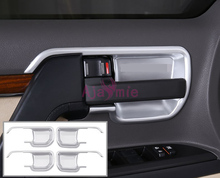 2008-2017 Interior Panel Trim Door handle Bowl Insert Chrome Car Styling For Toyota LC Land Cruiser 200 Accessories