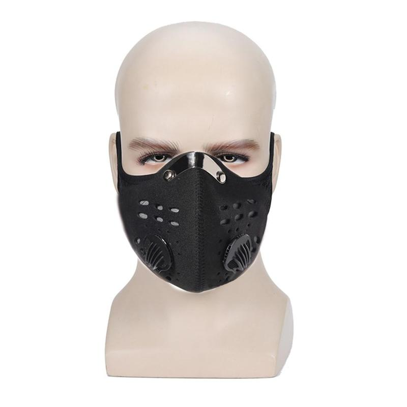 Face Mask Antiviral Sport Face Mask With Activated Carbon PM 2.5 Anti-Pollution Running Cycling Dust Mask