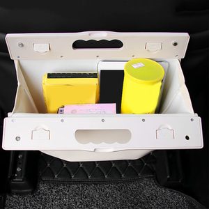 Image 2 - Car Trash Can Garbage Bag Hanging Seat Behind Row Storage Bag Interior Supplies