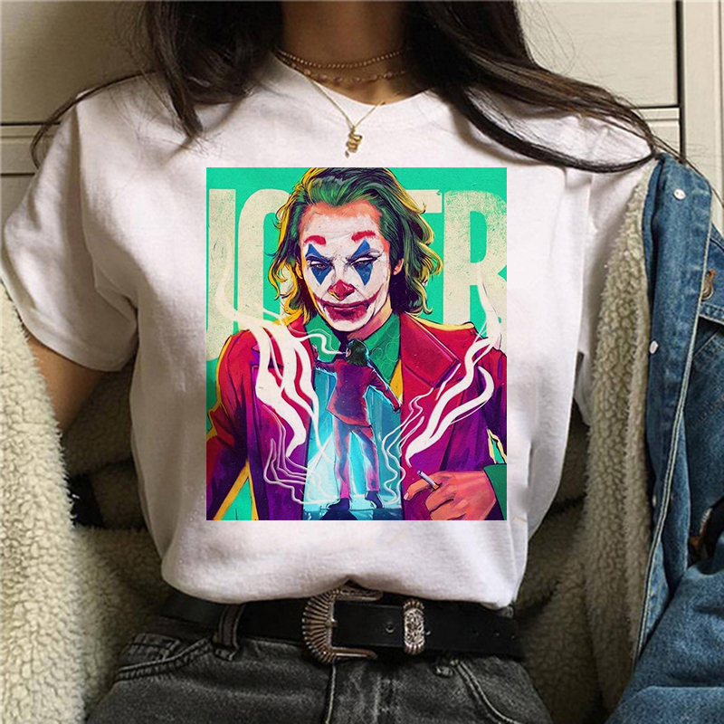 2020 Joker T Shirt White Men/women/kid T Shirt Summer Casual Harajuku Aesthetics T-shirts Joaquin Phoenix Joker Movie Tee Shirt
