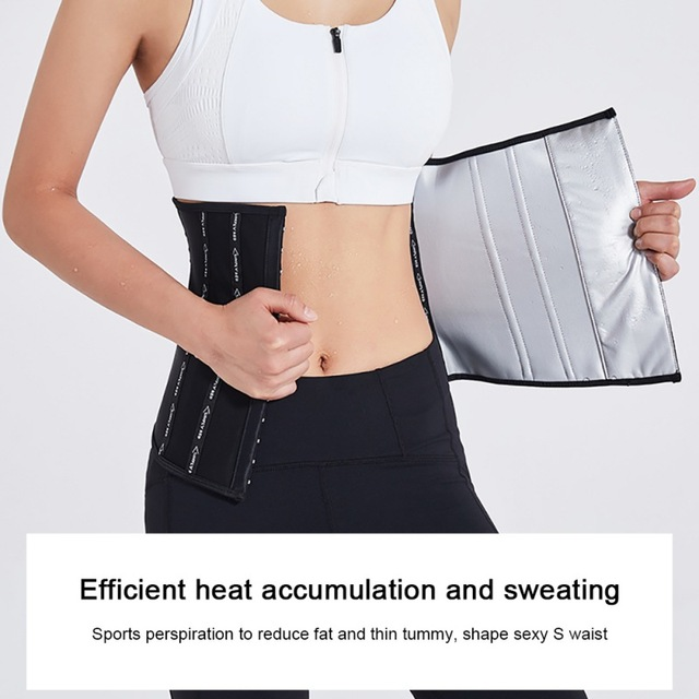 Women Trainer Waist Cincher Trimmer Back Support Sweat Crazier Slimming Body Shaper Silver Ion Material Belt-Sport Girdle Belt1 2