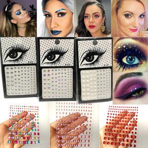 Stickers Eyeliner Makeup-Face Crystal Glittering Eyes Festival Rhinestone Diamond Party