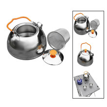Outdoor Camping Stainless Steel Kettle 1.1L Portable Camping Coffee Pot Walking Kettle Multi-Function Mini Kettle With Filter Te(China)